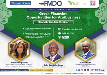 FMDQ, FSD Africa and CBI Hold Session on Green Financing Opportunities To Boost Nigerian Agricultural Sector