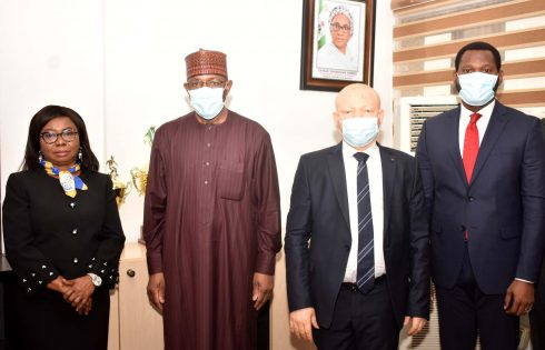 the New Director General, Securities and Exchange Commission Mr Lamido Yuguda during his Resumption at the SEC Headquarters Abuja, Monday
