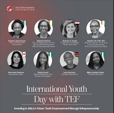 """TONY ELUMELU FOUNDATION MARKS INTERNATIONAL YOUTH DAY EMPHASISING THE """"YOUTH ENGAGEMENT FOR GLOBAL ACTION"""" AGENDA"""