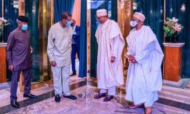 Buhari meets Pastor Adeboye at Aso Villa