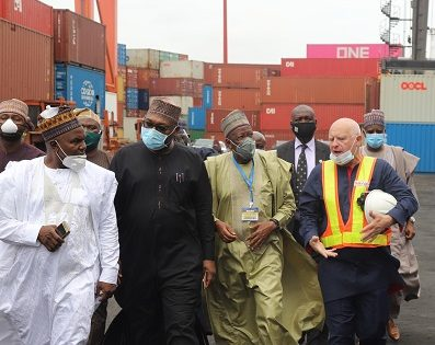 The Kano State Government during the assessment tour of Ports & Cargo Handling Services Limited, a subsidiary of SIFAX Group