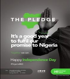 Heritage Bank joins in celebration of Nigeria @60