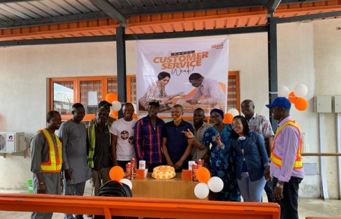The newly-commissioned SIFAX Container Terminal, Ijora Causeway, Lagos celebrating the 2020 Customer Week with agents at the terminal.
