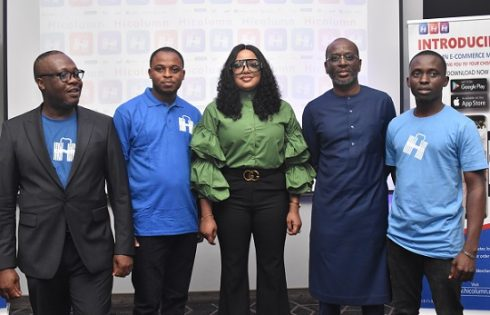 Nollywood Celebrity, Tayo Sobola, Unveils Hicolumn Groundbreaking E-commerce Tech in Grand Style