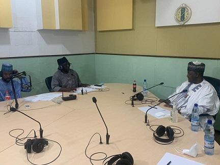 Danbatta Discuss Telecoms Industry Issues bordering connectivity, consumer protection on Radio Nigeria Kaduna