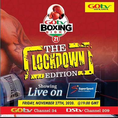 GOtv Boxing Night 21 scheduled to hold on 27 November To Air Live on SuperSport Select 2