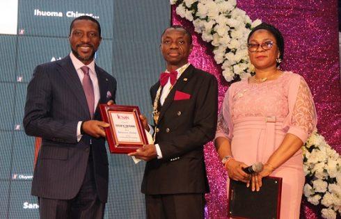 CEO, The NSE, Mr. Oscar Onyema Receive Award from ICSAN