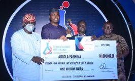 Abiola Fashina Honour With ISN Medical Laboratory Scientist of the Year Award 2020