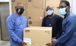 Ports & Cargo Terminal donates office equipment to NPA to cushion effect of #ENDSARS Losses