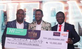Joshua Idiong emerged winner of The Next Titan, Season 7, Nigeria's foremost entrepreneurial reality TV show sponsored by SIFAX Group