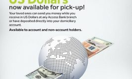 Access Bank pays your International money transfer funds in Dollars at branches Nationwide