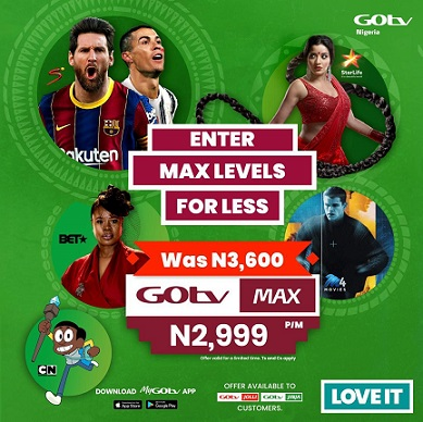 GOtv Customers Continue to EnjoyDiscount on GOtv Max in February