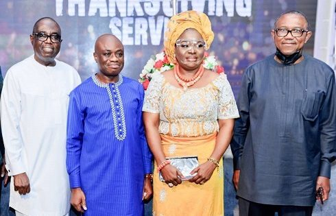Fidelity Bank Plc Former Chairman at the thanksgivingService