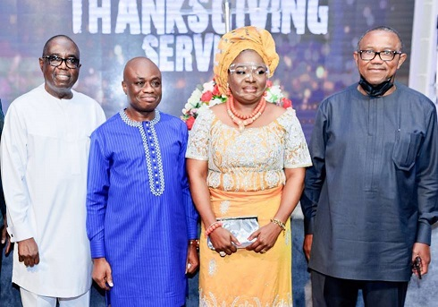 Fidelity Bank Plc Former Chairman at the thanksgiving Service