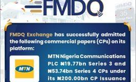 MTN Nigeria Communication PLC Raise N73.50bn Additional Capital On FMDQ Exchange Platform