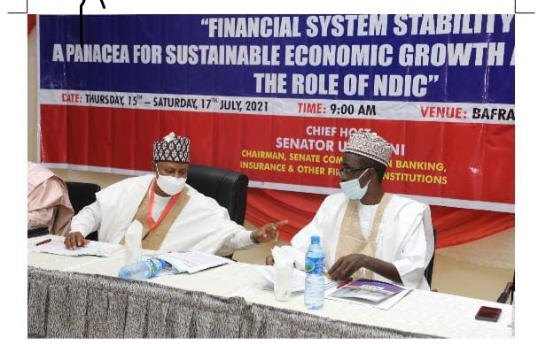 Chairman Senate Committee on Banking, Insurance and Other Financial Institutions, and Managing Director/CE NDIC during the 2021 Senate Retreat