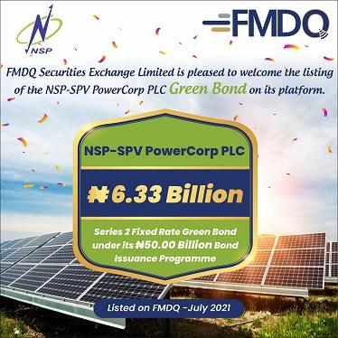 FMDQ Exchange Admits NSP-SPV PowerCorp PLC ₦50Bn Green Bond on its Platform