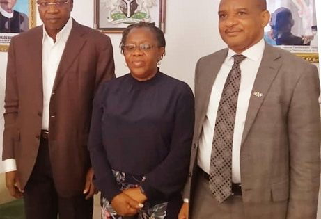 The Permanent Secretary, Federal Ministry of Transportation and Director General, Nigerian Maritime Administration and Safety Agency paid a courtesy call on Ambassador of Nigeria to Democratic Republic of Congo